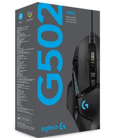 Mouselogitech G502 Hero Gamer Rgb 16000 Dpi 11 Botões Jogo