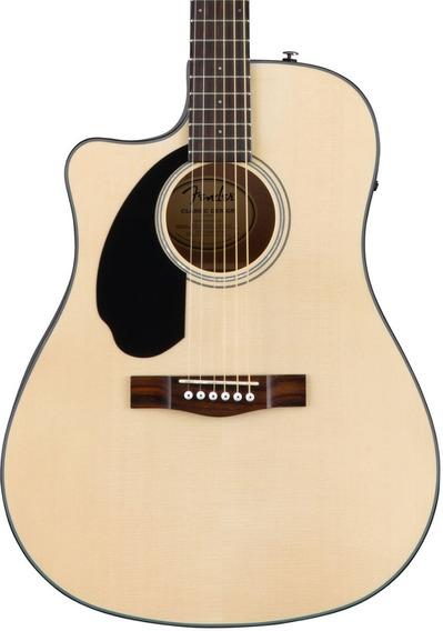 Guitarra Electro Acustica Fender Cd-60sce Zurda Natural Enví