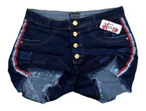 Short Jeans Feminino Plus Size Com Lycra Tamanhos Ate O 58