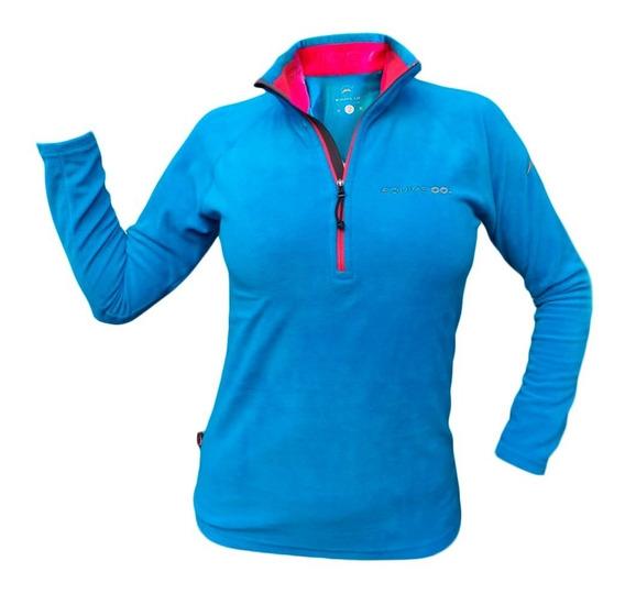 Buzo Micropolar Dama Invierno Moda Deporte Mujer Abrigo Frio Sky Running Trekking Gym Moda Liviano Respirable Mama