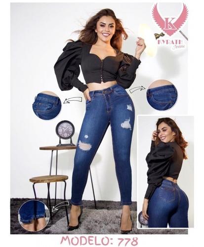 Pantalones De Mezclilla Mujer Entubados Pantalones Y Jeans Para Mujer 3 En Mercado Libre Mexico