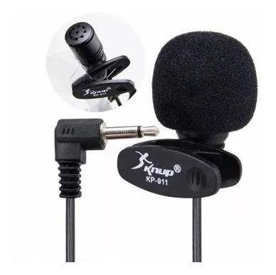 Microfone De Lapela Knup Para Gravação De Video Pc Kp-911