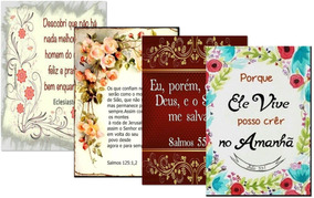 3 Quadros Frases Da Bíblia Frete Grátis