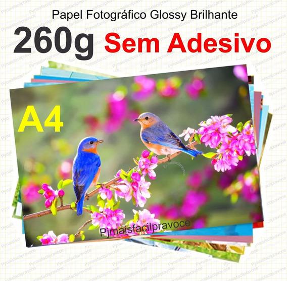 100 Fls Papel Foto Glossy À Prova D