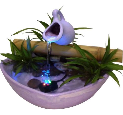 Fuente De Agua Con Luz Led Variedad De Colores