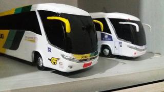 2 Miniaturas De Ônibus Marcopolo G7 Escala 1/64