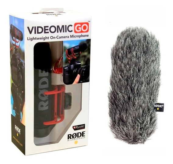 Microfone Rode Videomic Go Shotgun Dslr Com Deadcat E Lapela