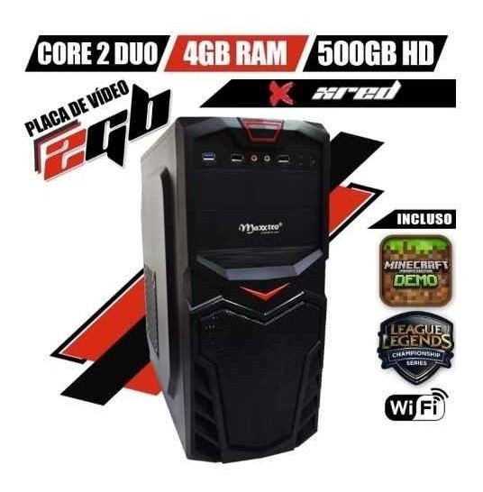 Cpu Gamer Barato Core² 4gb Wifi Geforce300 Corel Pb Lol Csgo