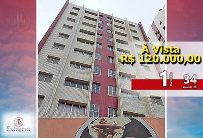 Kitnet Com 1 Dormitório À Venda, 34 M² Por R$ 120.000 - Guilhermina - Praia Grande/sp - Kn0090