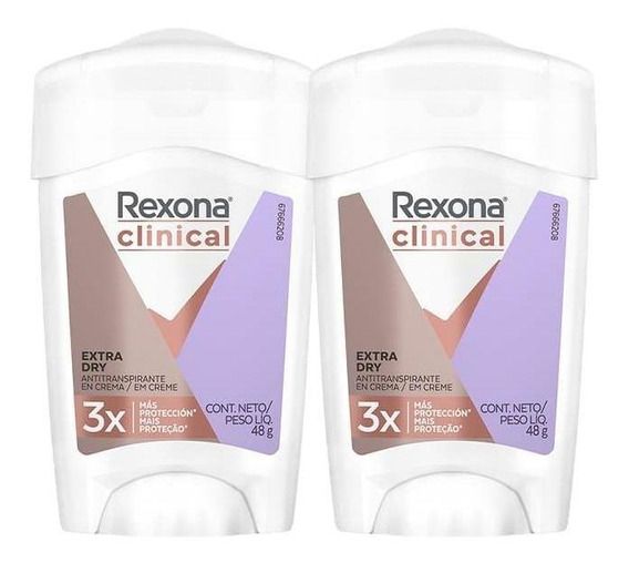 Desodorante Antitranspirante Rexona Clinical Dry 48g - 2un
