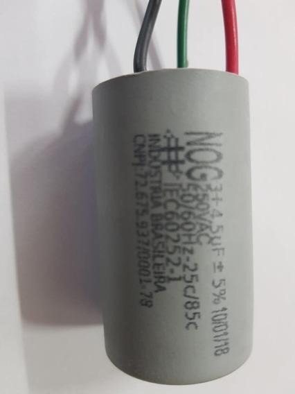 Capacitor Para Ventilador 3 Fios 3 + 4,5uf