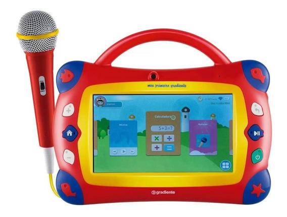 Tablet E Karaokê Meu Primeiro Gradiente Gtb106 Vermelho