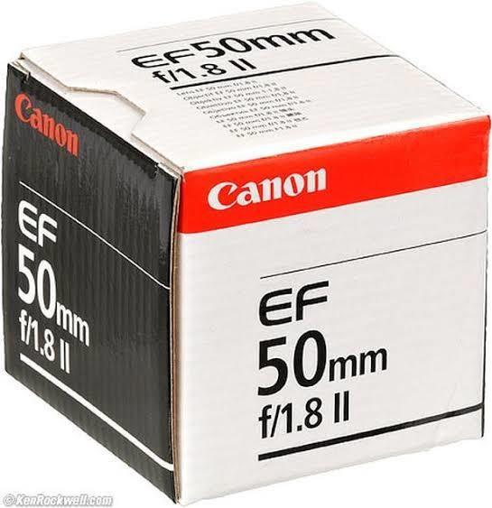 Caixa Para Canon 50mm Ef 1.8 C/manual