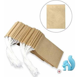 300 Bolsas Filtro Té + Cordón + 1 Clip Taza Material Seguro