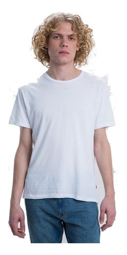 Remera Hombre Levis Orig. Basica  Ss Mission Tee Blanca