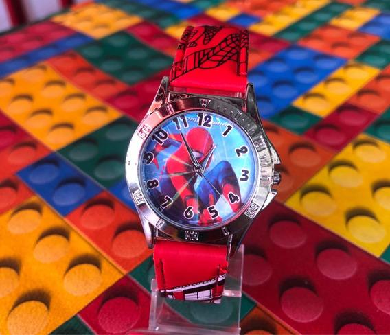Relógio Homem Aranha Pulseira Vermelha