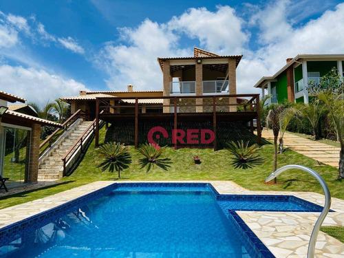Chácara Com 2 Dormitórios À Venda, 1300 M² Por R$ 1.300.000,00 - Condomínio Recreio Campo Verde - Ibiúna/sp - Ch0018