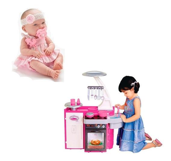 Kit Boneca Baby Ninos + Cozinha Classic Infantil Cotiplas