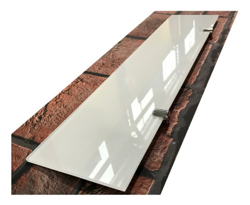 Estante Repisa Vidrio Coverglas Blanco 4mm 60x10 C/soportes