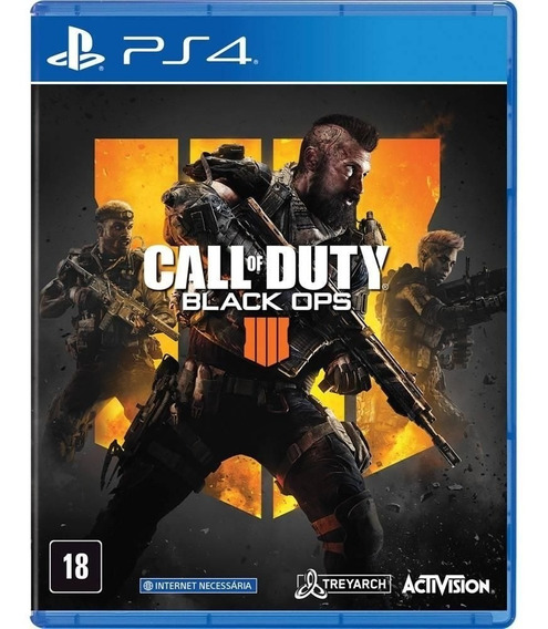 Game Ps4 Original Call Duty Black Ops 4 Blu-ray Midia Fisica