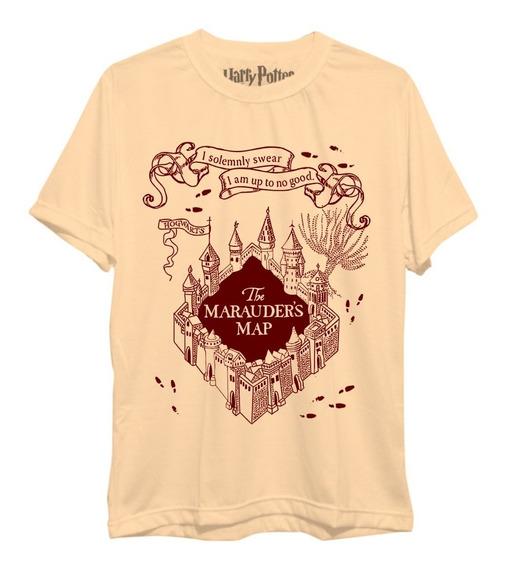 Camiseta Mapa Do Maroto Harry Potter Ron Hermione Freekz