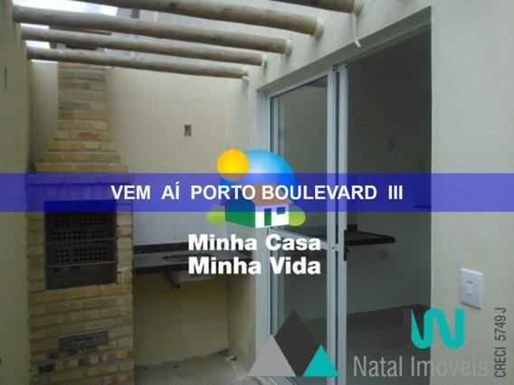 Condomínio Porto Boulevard 2 - Venda De Casa Duplex Em Nova Parnamirim, Com 2 Quartos, Porcelanato E Área Gourmet Privada - Ca00022 - 2588608