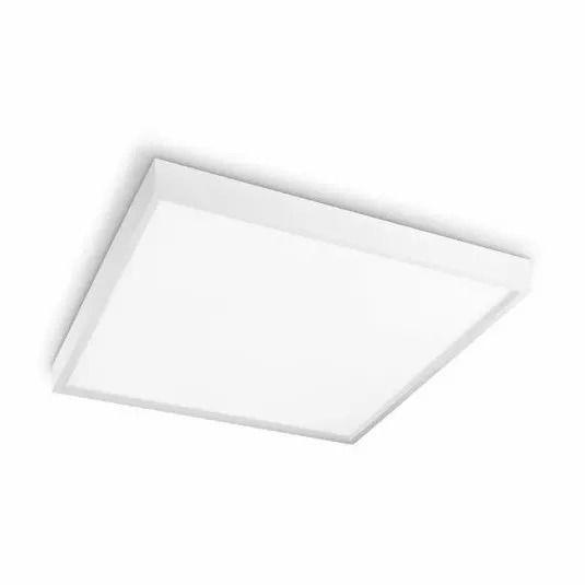Luminária Plafon De Sobrepor Quadrado 12w Led Branco 6500k