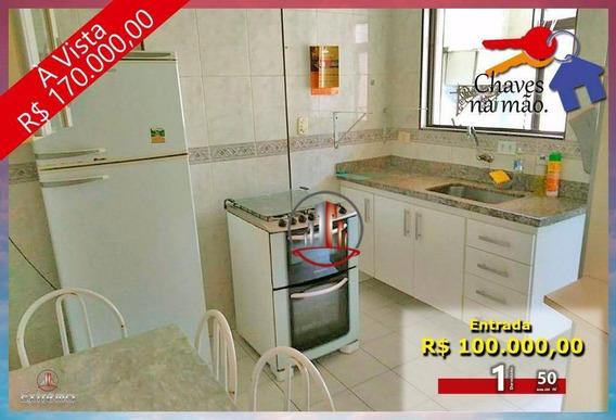 Apartamento Com 1 Dormitório À Venda, 50 M² Por R$ 170.000,00 - Vila Guilhermina - Praia Grande/sp - Ap0724