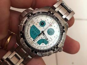 Relógio Citizen Temperatura C720 Fundo Branco Série Prata