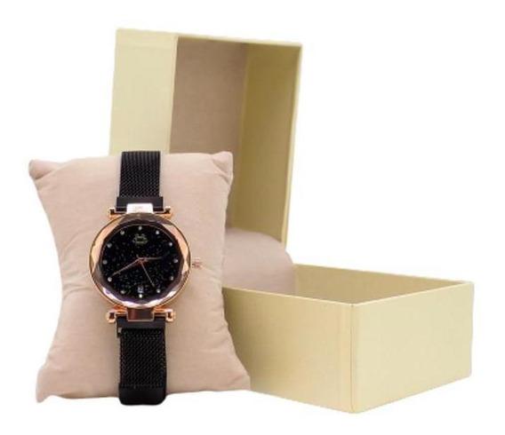 Relógio Feminino Orizom Analógico Aço Pulseira Magnética