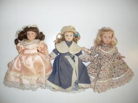 Lote De Bonecas De Porcelana De Coleção Knightsbridge Dolls