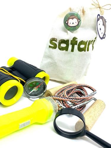 Imagem 1 de 6 de Kit Safari Explorador Ecobag Binóculo Lanterna Corda
