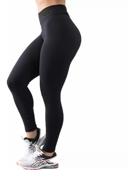 Calza Legging De Lycra Suplex Tiro Alto Lisa