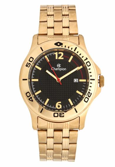 Relógio Champion Masculino Dourado Ca30221u