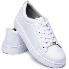 ae3f4221442 Tenis Casual Branco Nude Feminino Cr Shoes 4030