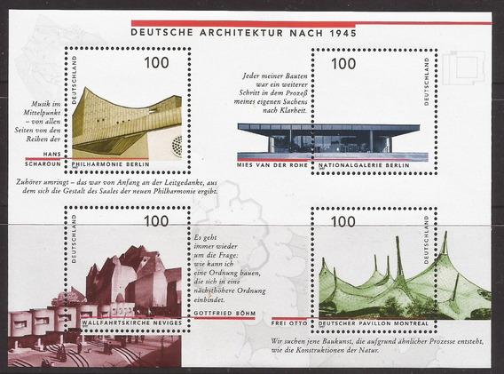 Alemania 1999 Bloque Arquitectura Alemana Mint - 179
