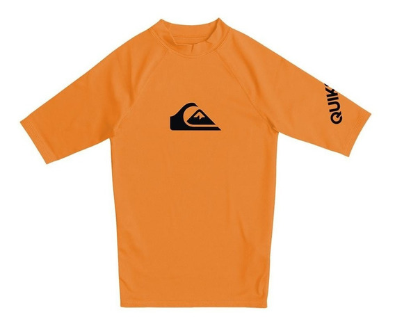 Remera De Lycra Quiksilver De Niño All Time 2201119001 Cna