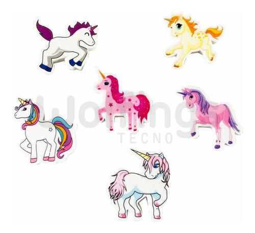 Pack X6 Goma De Borrar Diseños Animales / Unicornios