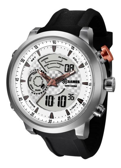 Relógio X-games Masculino Anadigi Xmspa016 S2px Aço