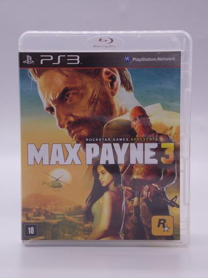 Max Payne 3 Play Station 3 Original Mídia Física
