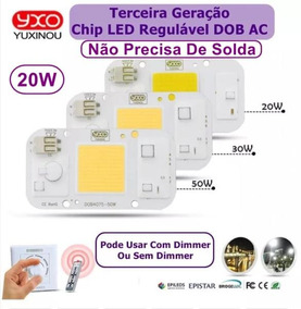 Kit 10 Chip Led 20w Branco Quente 220v Nao Usa Reator E Sold