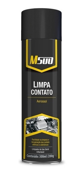 Limpa Contato Spray M500 300ml Eletrico Eletronico Pc Placa