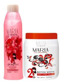 Kit Shampoo Antiresiduos + Btx White 1kg Maria Escandalosa