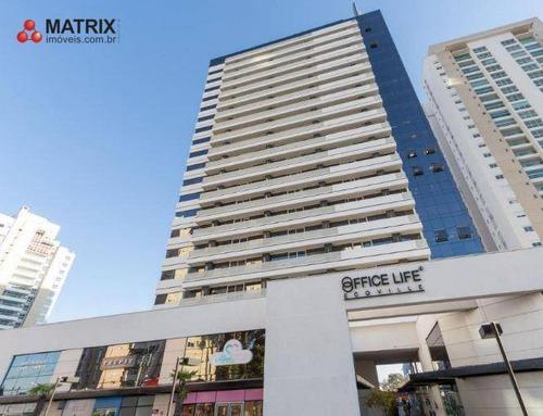 Sala Para Alugar, 62 M² Por R$ 1.996,80/mês - Campo Comprido - Curitiba/pr - Sa0565