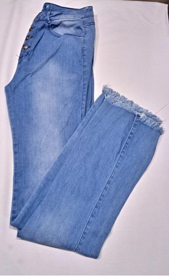 Calça Jeans Feminina Com Botões!! Nova