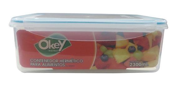 Taper Hermetico Rectangular Okey 2.3 L.