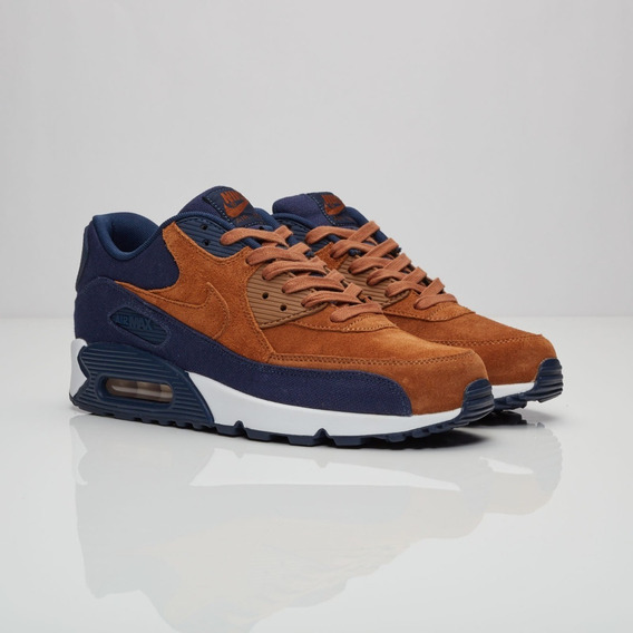 Zapatillas Nike Air Max 90 Premium Brown Blue - Nuevo Modelo