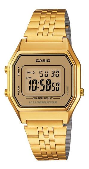 Reloj Casio Vintage Dama Gold, Luz La-680wga-9a Envio Gratis