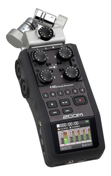 Gravador Zoom H6 Case+acessórios+cartão Sd 16gb, Cx Original