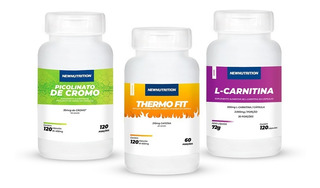 Kit Picolinato De Cromo+ L-carmitina+thermo Fit Newnutrition